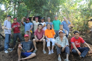 Here is the team that helped build the house