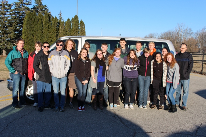 Group Photo before leaving Taylor U